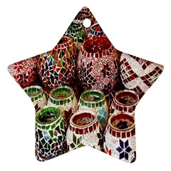 Colorful Oriental Candle Holders For Sale On Local Market Star Ornament (two Sides)