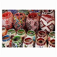 Colorful Oriental Candle Holders For Sale On Local Market Large Glasses Cloth