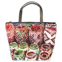Colorful Oriental Candle Holders For Sale On Local Market Bucket Bags