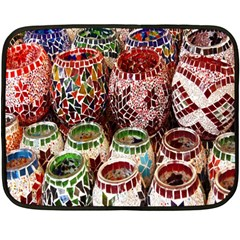 Colorful Oriental Candle Holders For Sale On Local Market Double Sided Fleece Blanket (Mini)