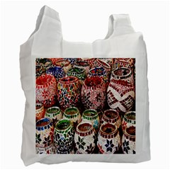 Colorful Oriental Candle Holders For Sale On Local Market Recycle Bag (two Side)