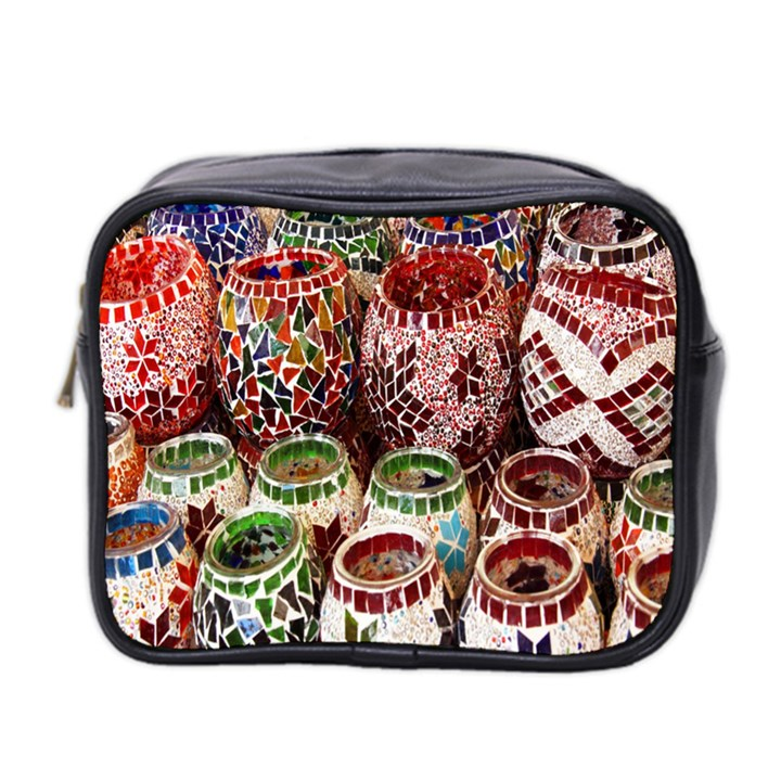 Colorful Oriental Candle Holders For Sale On Local Market Mini Toiletries Bag 2-Side