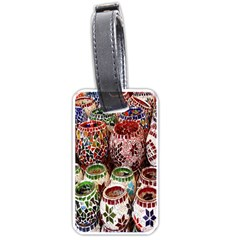 Colorful Oriental Candle Holders For Sale On Local Market Luggage Tags (one Side)