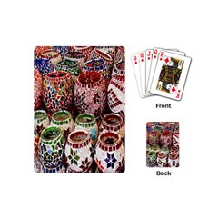 Colorful Oriental Candle Holders For Sale On Local Market Playing Cards (mini)