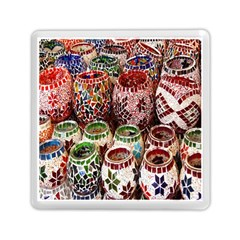 Colorful Oriental Candle Holders For Sale On Local Market Memory Card Reader (square)