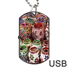 Colorful Oriental Candle Holders For Sale On Local Market Dog Tag Usb Flash (two Sides)