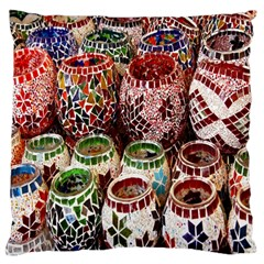 Colorful Oriental Candle Holders For Sale On Local Market Large Cushion Case (one Side)