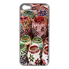 Colorful Oriental Candle Holders For Sale On Local Market Apple Iphone 5 Case (silver)