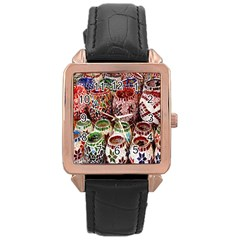 Colorful Oriental Candle Holders For Sale On Local Market Rose Gold Leather Watch
