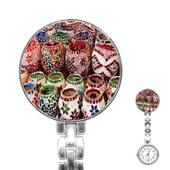 Colorful Oriental Candle Holders For Sale On Local Market Stainless Steel Nurses Watch