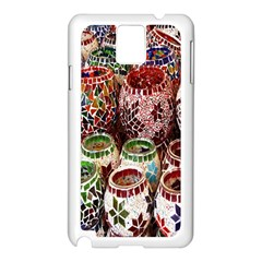 Colorful Oriental Candle Holders For Sale On Local Market Samsung Galaxy Note 3 N9005 Case (white)