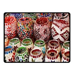 Colorful Oriental Candle Holders For Sale On Local Market Double Sided Fleece Blanket (small)
