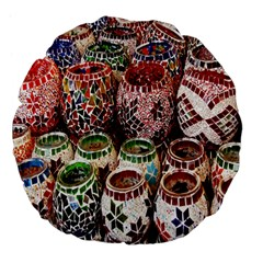 Colorful Oriental Candle Holders For Sale On Local Market Large 18  Premium Flano Round Cushions