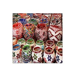 Colorful Oriental Candle Holders For Sale On Local Market Satin Bandana Scarf