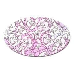Floral Pattern Background Oval Magnet