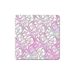 Floral Pattern Background Square Magnet