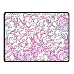 Floral Pattern Background Double Sided Fleece Blanket (small)