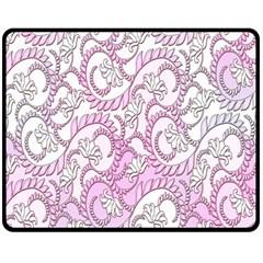 Floral Pattern Background Double Sided Fleece Blanket (medium)