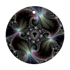 Precious Spiral Round Ornament (two Sides)