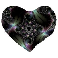 Precious Spiral Large 19  Premium Flano Heart Shape Cushions