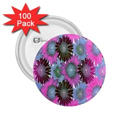 Floral Pattern Background 2 25  Buttons (100 Pack)
