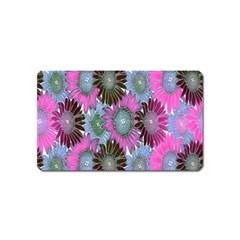 Floral Pattern Background Magnet (name Card)