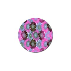Floral Pattern Background Golf Ball Marker