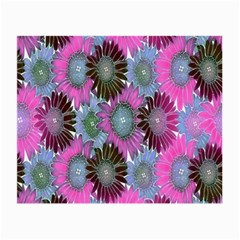Floral Pattern Background Small Glasses Cloth (2-Side)