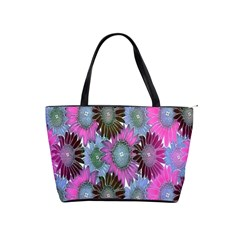 Floral Pattern Background Shoulder Handbags