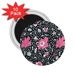 Oriental Style Floral Pattern Background Wallpaper 2.25  Magnets (10 pack)