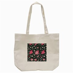 Oriental Style Floral Pattern Background Wallpaper Tote Bag (Cream)
