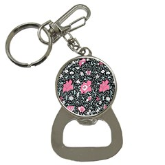 Oriental Style Floral Pattern Background Wallpaper Button Necklaces