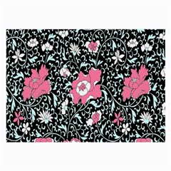 Oriental Style Floral Pattern Background Wallpaper Large Glasses Cloth (2-Side)
