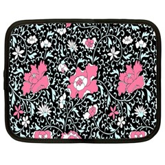 Oriental Style Floral Pattern Background Wallpaper Netbook Case (large)