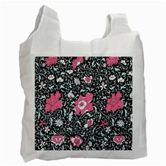 Oriental Style Floral Pattern Background Wallpaper Recycle Bag (Two Side)