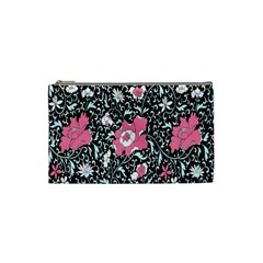 Oriental Style Floral Pattern Background Wallpaper Cosmetic Bag (small)