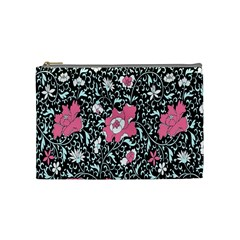 Oriental Style Floral Pattern Background Wallpaper Cosmetic Bag (Medium)