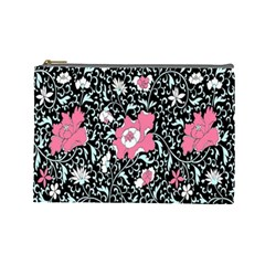 Oriental Style Floral Pattern Background Wallpaper Cosmetic Bag (Large)