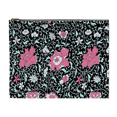 Oriental Style Floral Pattern Background Wallpaper Cosmetic Bag (xl)