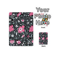 Oriental Style Floral Pattern Background Wallpaper Playing Cards 54 (mini)