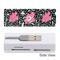 Oriental Style Floral Pattern Background Wallpaper Memory Card Reader (stick)