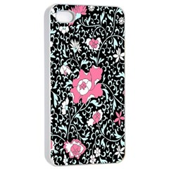Oriental Style Floral Pattern Background Wallpaper Apple Iphone 4/4s Seamless Case (white)