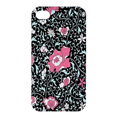 Oriental Style Floral Pattern Background Wallpaper Apple iPhone 4/4S Hardshell Case