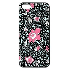 Oriental Style Floral Pattern Background Wallpaper Apple iPhone 5 Seamless Case (Black)