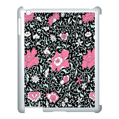 Oriental Style Floral Pattern Background Wallpaper Apple iPad 3/4 Case (White)