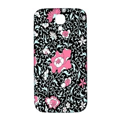 Oriental Style Floral Pattern Background Wallpaper Samsung Galaxy S4 I9500/i9505  Hardshell Back Case