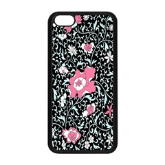 Oriental Style Floral Pattern Background Wallpaper Apple Iphone 5c Seamless Case (black)