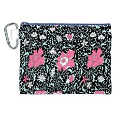Oriental Style Floral Pattern Background Wallpaper Canvas Cosmetic Bag (XXL)