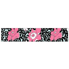 Oriental Style Floral Pattern Background Wallpaper Flano Scarf (small)