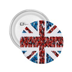 Fun And Unique Illustration Of The Uk Union Jack Flag Made Up Of Cartoon Ladybugs 2 25  Buttons